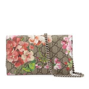 Gucci Wallet on chain pink bloom